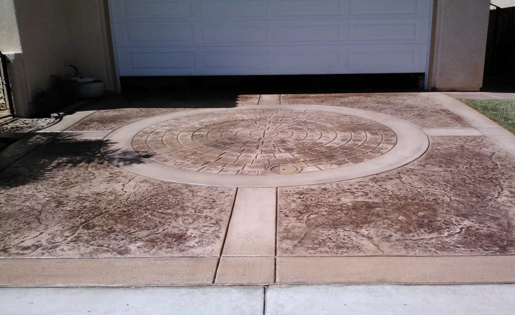 Stamped Driveway Concrete Contractor Temecula, Decorative Concrete Company Temecula Ca